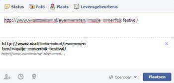 Link preview Facebook niet zichtbaar