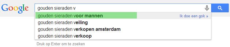 Google Automatisch aanvullen voor je productomschrijving voorbeeld 2