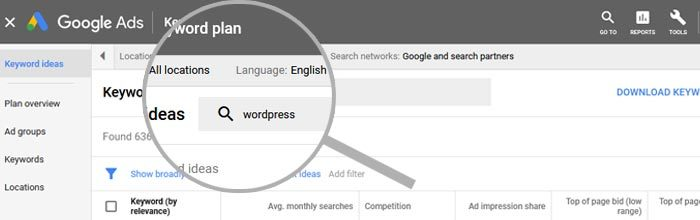 Setting language and locations in Google Ads