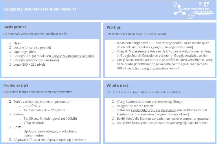 De gratis alles-wat-je-moet-weten-over Google My Business checklist